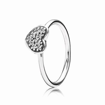 Pave Heart Ring 190890cz